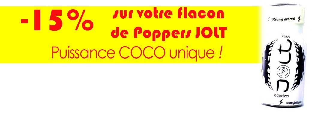 Poppers Jolt noix de coco à prix moins cher