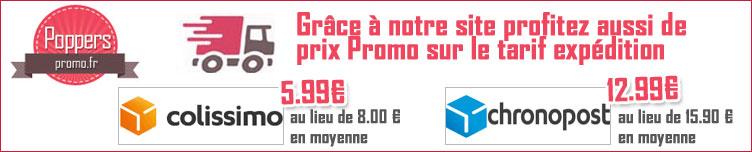 Popper-promo Promotion sur les frais de port